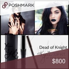 ❗️PRICE FIRM❗️Kylie Dead of Knight Lip Kit NO TRADES! Contains: 1 Matte Liquid Lipstick (0.11 fl oz./oz. liq / 3.25 ml) and 1 Pencil Lip Liner (net wt./ poids net  .03 oz/ 1.0g) Kylie Cosmetics Makeup Lip Liner