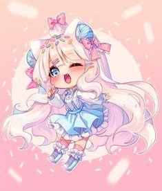 Hyanshading chibi commission for Art by Hyanna Natsu Dibujos Anime Chibi, Cute Anime Chibi, Anime Girl Cute, Anime Neko, Manga Anime, Manga Kawaii, Kawaii Chibi, Kawaii Art, Kawaii Anime Girl