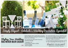 Print Ad Design for Simply Elegant by Anywhere Creative.  www.anywherecreative.com