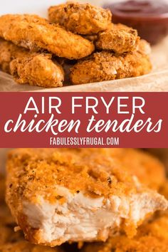If you just got an air fryer, one of the first recipes you may have searched for is an air fryer chicken tenders recipe, and we don't blame you! Chicken tenders are super family-friendly and totally a comfort food!