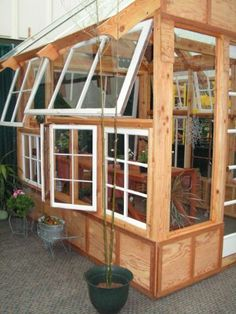 Gorgeous Greenhouse from Recycled Materials!