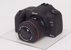 Canon camera cake. Looks so real! somebody make me one for my birthday please!
