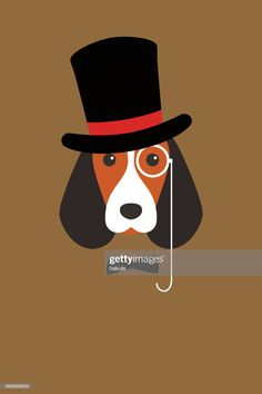 Fashion portrait of dog, gentlemen dog vector art illustration Dog Vector, Free Vector Graphics, Vector Art, Dog Wear, Guys Be Like, Free Illustrations, Gentleman, Royalty, Clip Art