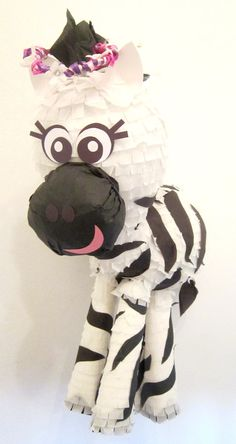 MOVING Custom Zebra Pinata Girly Cute Animal Party by PinataMama, $70.00