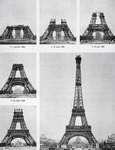 Строительство Эйфелевой башни в картинках  #Eiffel_Tower #башня