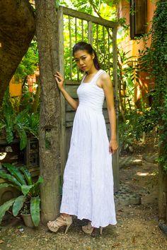 White Boho Dress - White Hippie Dress, Halter Maxi Dress, Sundresses, Gypsy dress, Vacation beach dress, holiday dress, plus size dress by IamNorthSTAR on Etsy https://www.etsy.com/listing/240570780/white-boho-dress-white-hippie-dress