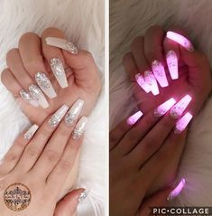 Want some ideas for wedding nail polish designs? This article is a collection of our favorite nail polish designs for your special day. Read for inspiration Nail Polish Designs, Nail Art Designs, Pedicure Designs, Crome Nails, Luminous Nails, Nagel Hacks, Glow Nails, Fun Nails, Nagellack Design