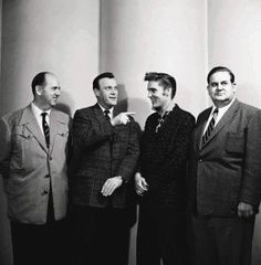 Elvis Presley, Colonel Parker, Eddy Arnold, Steve Sholes (RCA)