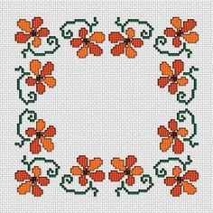 Floral Border, free cross stitch pattern from Alita Designs