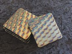 Dichroic Fused Glass Footed Coasters