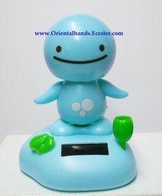 Large Size Sunshine Buddy Nohohon Solar Power Belly Dancing Bobblehead Blue | eBay