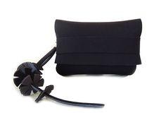 Purse with tassel keychain iphone purse black foldover