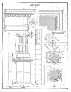 Architecture Printable Ionic - Diagram - The Graphics Fairy