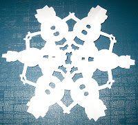 Free templates to make fun snowflakes for winter!
