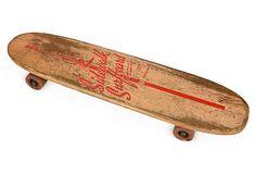 1960s Nash Sidewalk Surfboard Tournament No. 7 with clay wheels. Skateboard pioneers rode concrete waves (sidewalks) when the surf was poor.