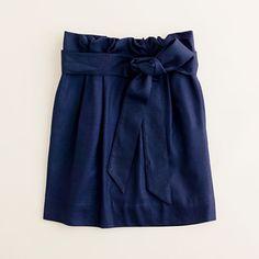 Petite Sash Skirt in Dark Navy, $99.99 at jcrew.com.