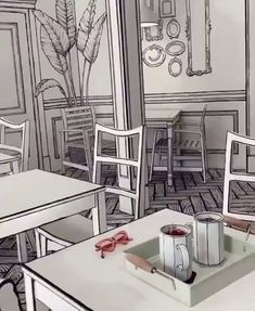 This Korean Café Makes Visitors Feel Like They've Stepped Into a Cartoon Coffee Shop Design, Cafe Design, Store Design, House Design, Design Design, Korean Cafe, Deco Restaurant, Modern Restaurant, Vintage Cafe