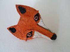 Mr Marmalade Orange Suede Peckham Fox Brooch.
