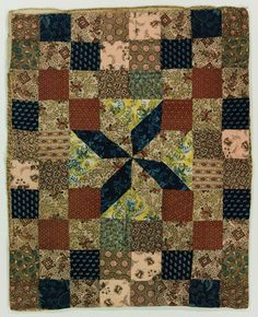 Resist Printing LeMoyne Star Doll Quilt, 1820-1840, International Quilt Study Center  Museum, Lincoln, NE