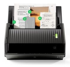 The ScanSnap Evernote Edition scanner by the Fujitsu company PFU scans business cards, photos, receipts, and documents, and automatically files them into Evernote.
