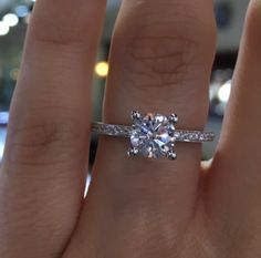 This Tacori Diamond Solitaire Engagement Ring Setting is a Tacori Girl favorite. Made in 18k White Gold you can also special order this Tacori Engagement Ring from the Sculpted Crescent collection in 18k Yellow and Rose Gold or Platinum.