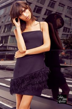 New Year's Eve Looks, Parker Black, Ostrich Feathers, Saks Fifth Avenue, Ethereal, Glamour, Inspired, Clothes For Women, Simple