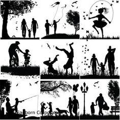 Designer Line Family Black Enamel Decals Familie Symbol, Mug Design, Supernatural Beings, Family Tattoos, Mom Tattoos, Tree Silhouette, Silhouette Family, Black Enamel, Photography Poses