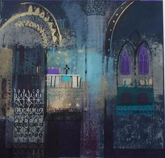 screenprint by Jean B Martin Building Painting, Building Art, Collages, Collage Art, Moroccan Art, Urban Sketching, Mixed Media Art, Mix Media, Islamic Art