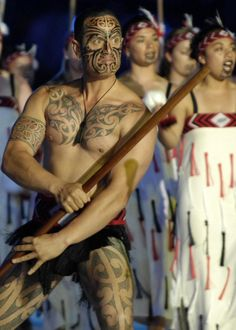 """According to Māori mythology, tattooing (""""tā moko"""") commenced in the underworld, and their tattoos (""""Moko"""") are as unique to the wearer as their own fingerprints."""