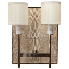 Paul Marra Python Backed Two-Arm Sconce | From a unique collection of antique and modern wall lights and sconces at https://www.1stdibs.com/furniture/lighting/sconces-wall-lights/