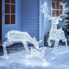 Light Up LED Sparkly Christmas Reindeer Indoor Outdoor Acrylic Figures, 3 Styles in Home, Furniture & DIY, Celebrations & Occasions, Christmas Decorations & Trees | eBay #christmaslightdecorations