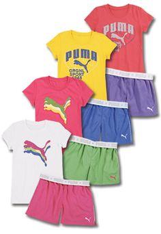 Puma Kids Apparel tee shirts and shorts at CWDkids
