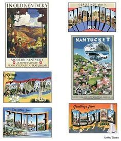 US Postcards year unknown