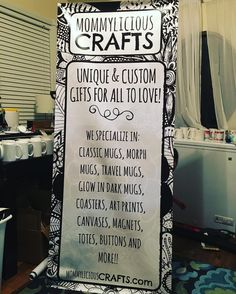 Yay! Finally set up my banner for @justforherevent. Tested out the stand and it all works  #justforherevents #jfh #mommyliciouscrafts #custommug #etsyseller #handmadeatamazon #etsyshop
