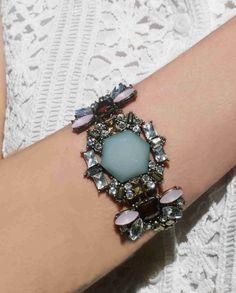 Mint Gem Stone Jelly Bracelet $26
