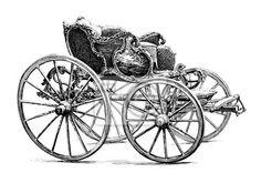 Tableau/Poster carrosse - style louis xv - 18ème siècle - automobile • PIXERS.fr