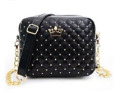 27e22831aab23 Women Messenger Bags Rivet Chain Shoulder Bag High Quality PU Leather Crossbody  Bag Fashion Tag
