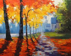 Autumn Street Scene by artsaus.deviantart.com on @deviantART
