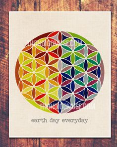 Flower of Life Earth Day Everyday Sacred by theindigomuselab, $34.00