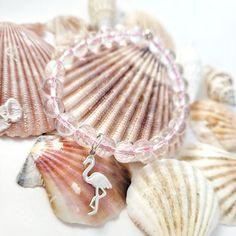 TAKE ME TO THE BEACH Flamingo Gemstone Bracelet