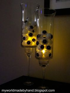 Eyeballs in a vase with a glowstick