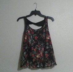 Floral Lace Top Floral Lace Top, Not my style so I'm selling, Feel free to make a Offer!! Charlotte Russe Tops