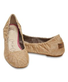 Look at this TOMS Ivory Metallic Classic Ballet Flat on #zulily today!