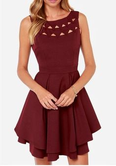 2016Charming Burgundy Homecoming Dress,Sexy Open Back Prom Dress,New Style Sleeveless Dress for Party And Other Occasions