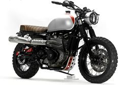 Triumph Bonneville T100 Scrambler by Steel Bent Customs