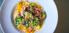 Pancetta, Blue Cheese & Broccoli Pasta.