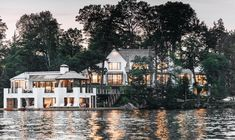 House Tour-An Architectural Gem on Lake Rosseau Lakeside Living, Lakeside Cottage, Beach Cottage Style, Up House, Boat House, House By The Lake, River House, Lake House Plans, Lakefront Property