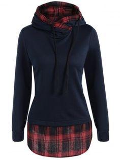 GET $50 NOW   Join RoseGal: Get YOUR $50 NOW!http://www.rosegal.com/sweatshirts-hoodies/plaid-splicing-drawstring-hoodie-866537.html?seid=948764rg866537