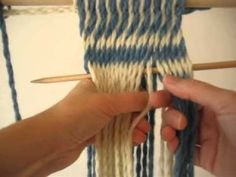 How to do S Twist Sprang Interlinking