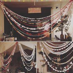 Diy garland holiday decor winter decorations Christmas